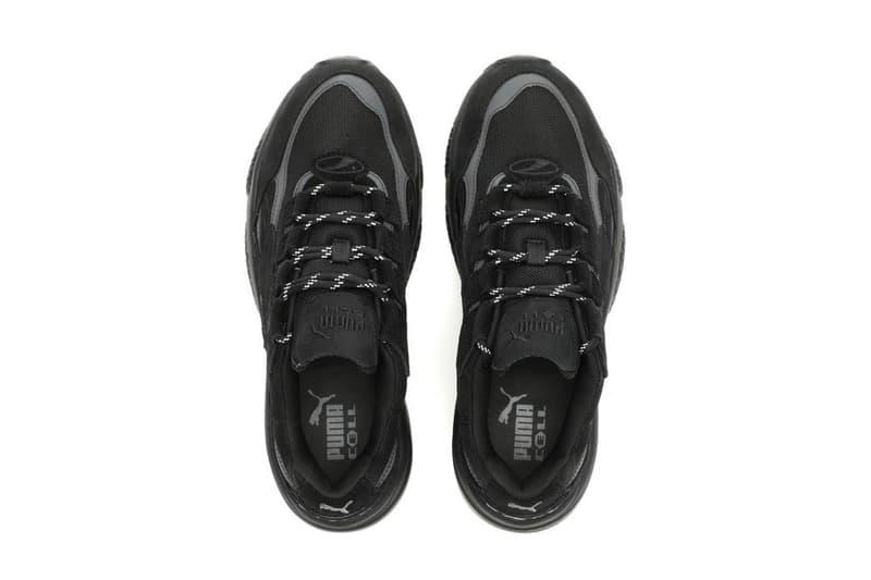 "PUMA CELL Venom ""Blackout"" Release footwear sneakers all black transparent midsole air unit"