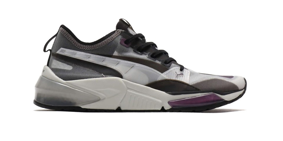 "Puma Remodels its LQD CELL Optic in a Stealthy ""Sheer Gray/Violet"" Colorway thumbnail"