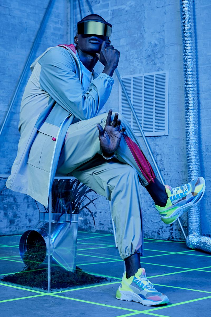 PUMA Introduces the Optic LQD Cell Lookbook neon green purple white sneaker footwear running cushion profoam energy lightweight support stability