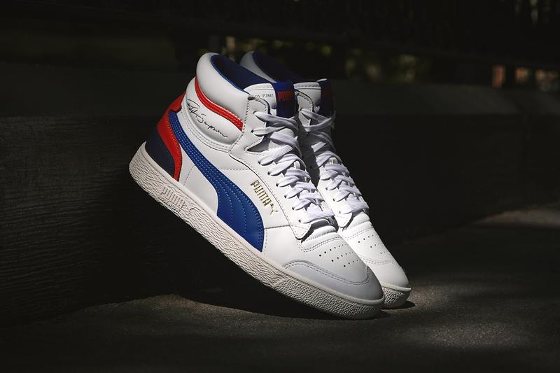 PUMA Ralph Sampson Street Style Lookbook red blue dark white leather basketball 80s keith charles space bar fashion