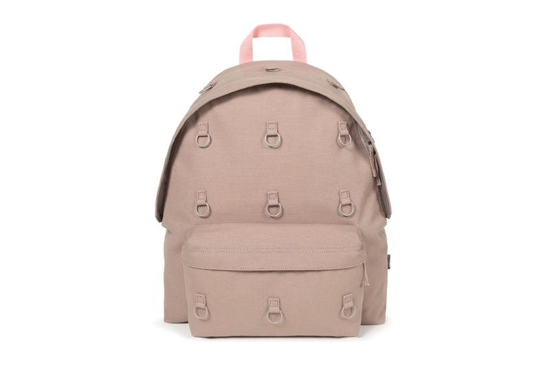 Raf Simons Eastpak Padded Pakr Collection backpack Anthracite Yellow Grey Pink padded polyester quilted ninth project belgian antwerp carrying option laptop 15 inch