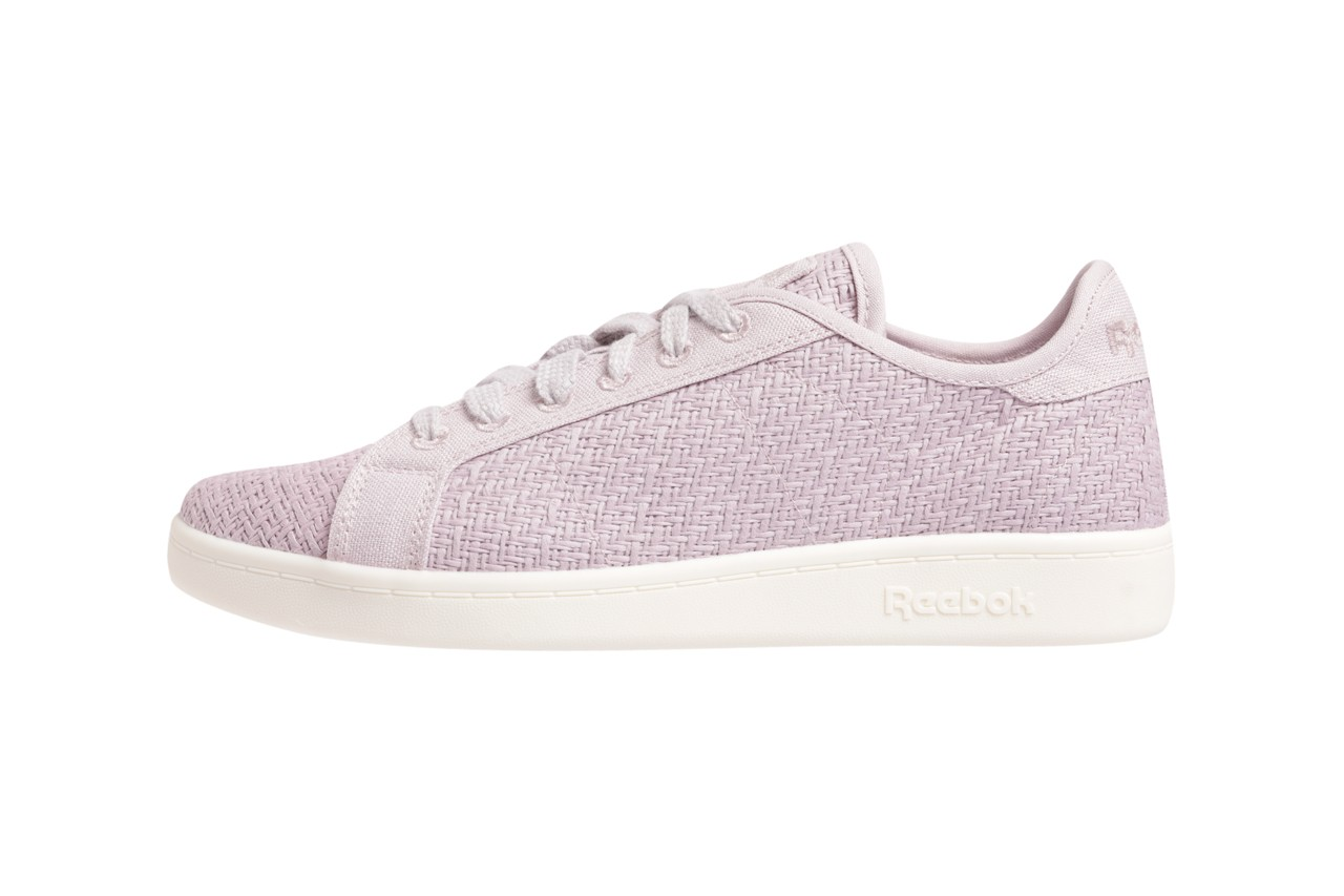 reebok cotton corn vegan sustainable footwear pastel lavender blue green colorway release summer 2019 usda certified non toxic petroleum free