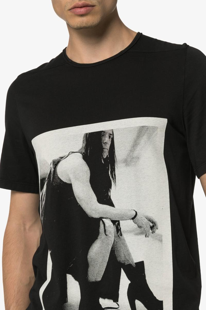 Rick Owens DRKSHDW Photographic Image Cotton T-Shirt release where to buy price 2019
