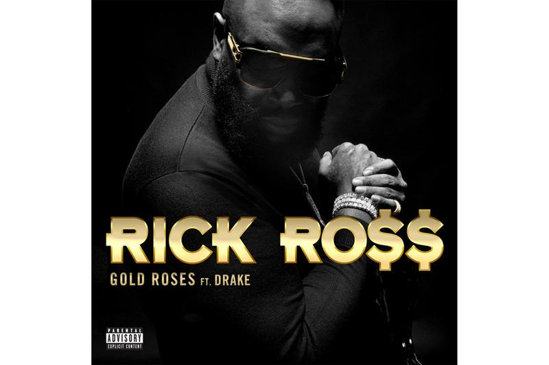 "Rick Ross ""Gold Roses"" Feat. Drake Single Stream spotify apple music hip-hop rap r&B port of miami 2 maybach music OVO richforever champagnepapi"