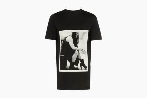 Rick Owens DRKSHDW Photographic Image Cotton T-Shirt