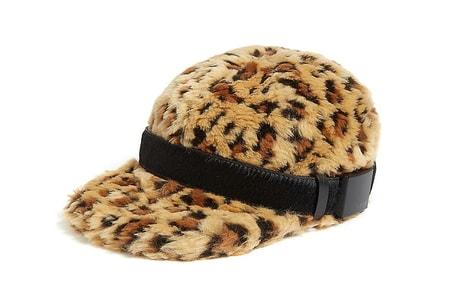 sacai Drops Plush $475 USD Cheetah-Print Faux Fur Cap