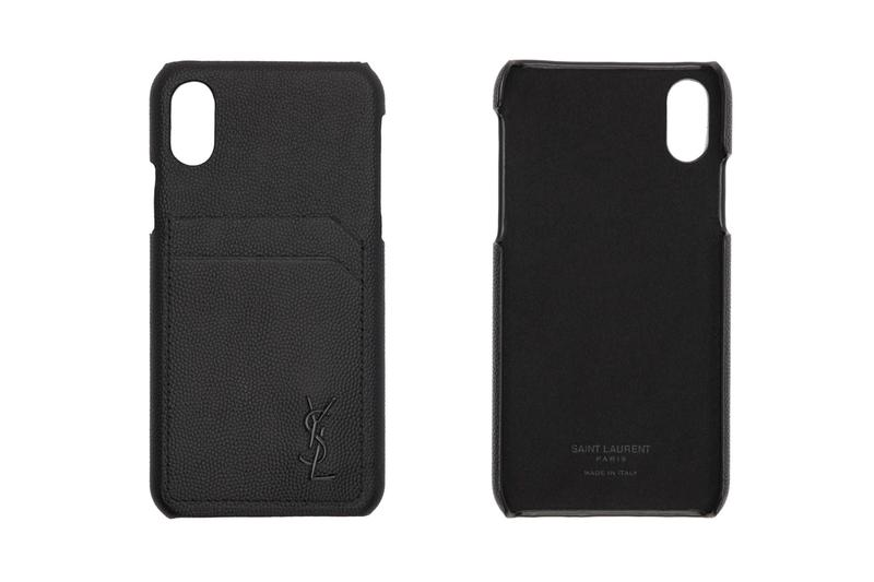 Saint Laurent Leather iPhone Case Release Info ssense black
