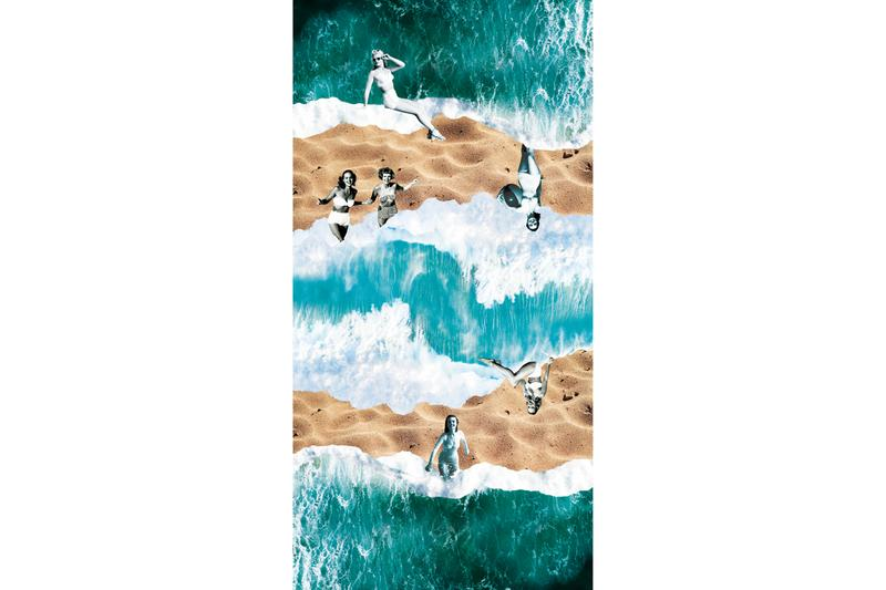 sapphire pools three artist beach towels Dalia Amara Katie Buckleitner Ryan Travis Christian Lauren Clay Alexander Deschamps Carlos Jaramillo Anjuli Rathod Josh Reames
