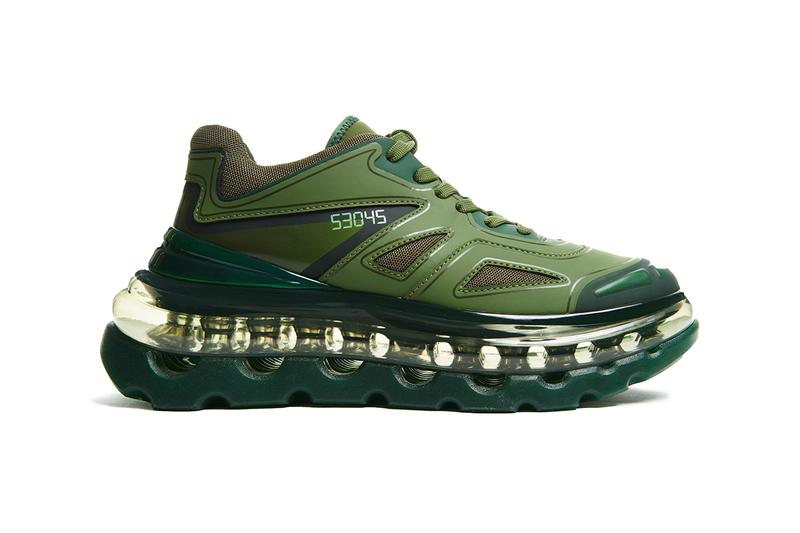 "Shoes 53045 Bump'Air ""Green Giant"" Sneaker Release Information Cop Online Exclusive Limited Edition Footwear David Tourniaire-Beauciel Balenciaga Triple S"