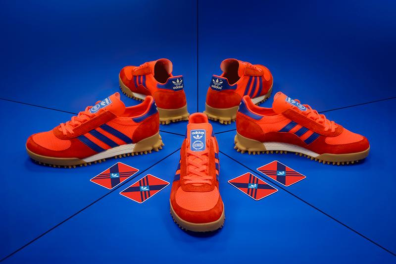 "adidas Originals Archive Marathon TR ""Red/Blue"" size? Exclusive Drop Release Information Cop Retro Sneaker Three Stripes Trefoil Trailer Runner"