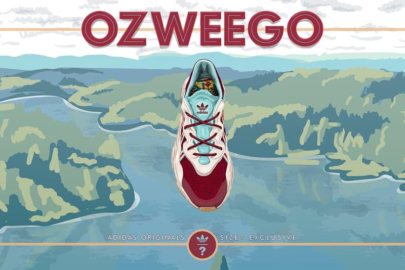 adidas originals ozweego size lake oswego maroon oregon earthy gum aqua blue inspiration closer look buy cop purchase first order