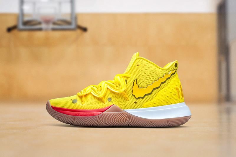 Nike Kyrie 5 Spongebob Squarepants, Patrick Star colorways release date info 130 usd price august 10 2019 official imagery closer look on feet
