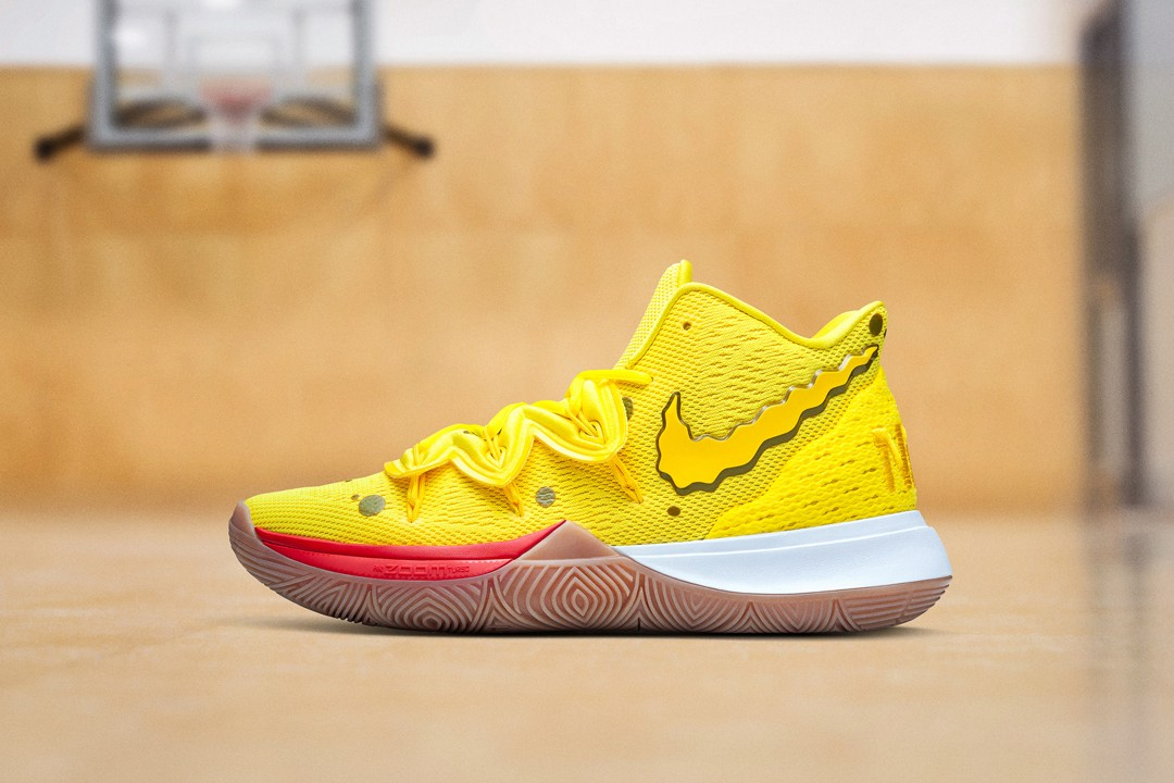Best Sneaker Releases August 2019 Week 1 SpongeBob Squarepants Nike Kyrie irving Collection SpongeBob Patrick Star Squidward Tentacles Kyrie 5 Mr. Krabs Sandy Cheeks Kyrie Low 2 collaborations
