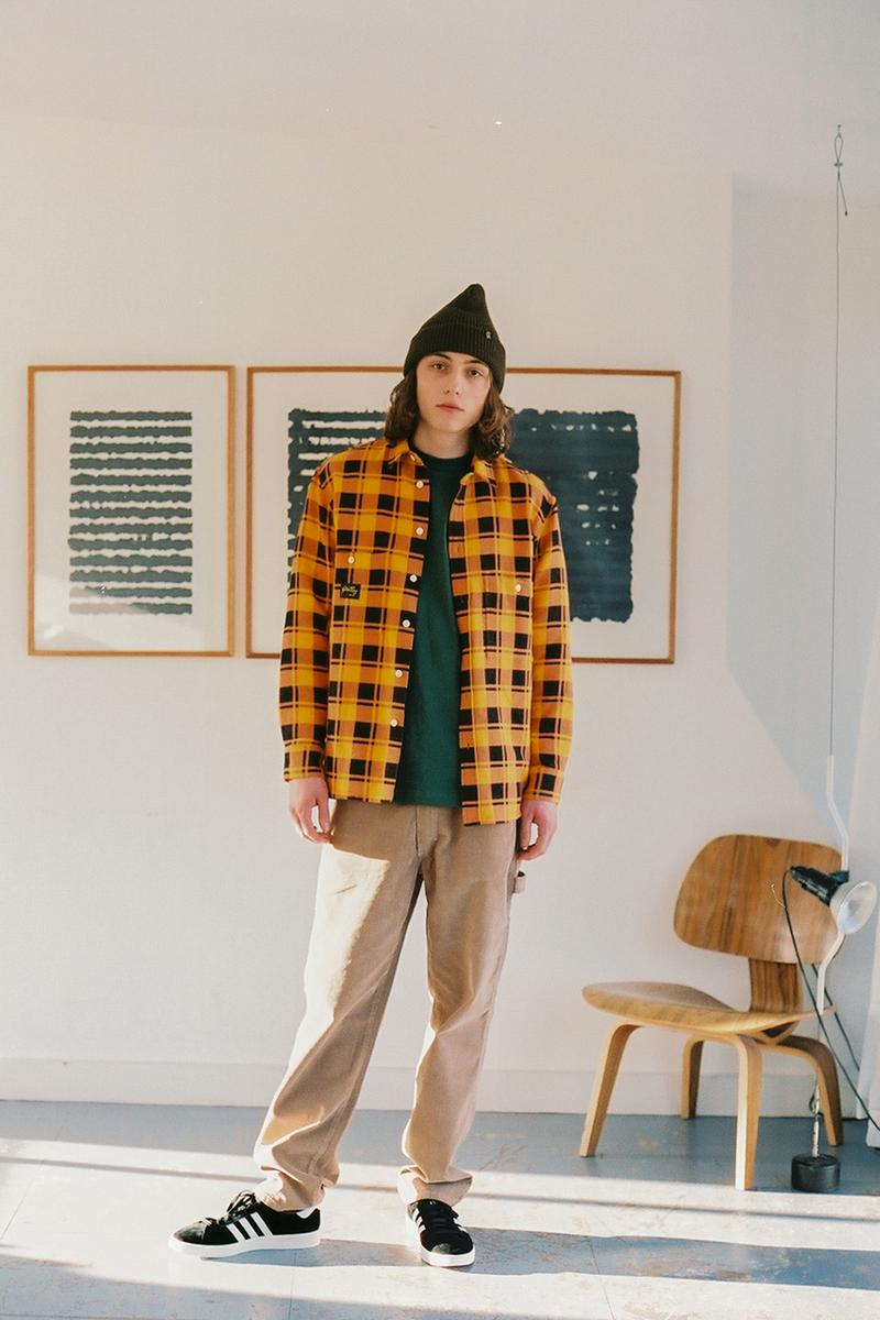 Stan Ray Fall Winter 2019 Collection Lookbook Texas USA Brand Label Workwear Inspired 1972 Tropical Jacket Liner Vest M65 Cargo Pant Wide Leg Military Fatigue Roll Neck Sweat Flannel shirts End Garbstore Goodhood LN-CC Oi Polloi