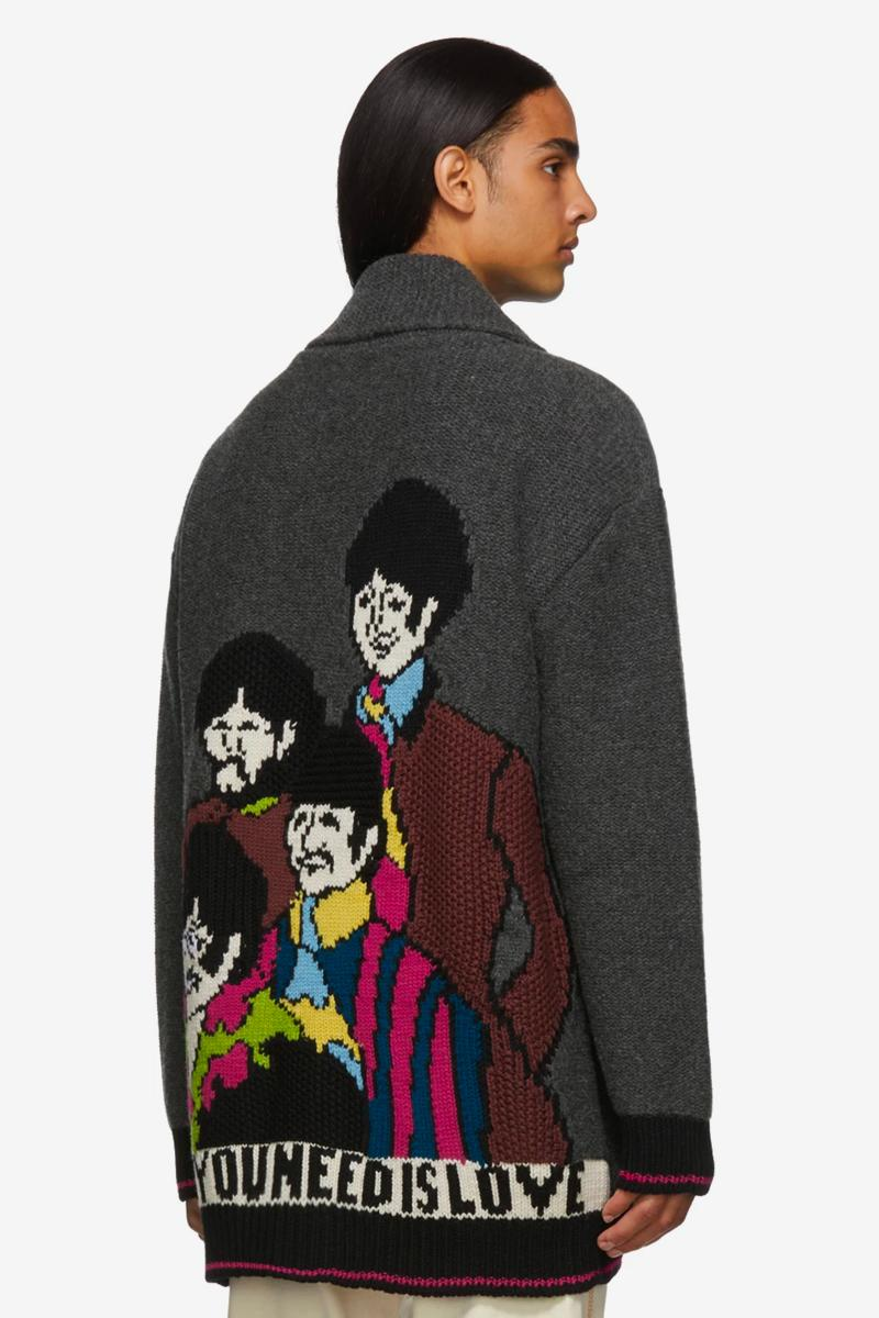 Stella McCartney The Beatles All Together Now Capsule Collection John Lennon Yellow submarine Paul mccartney iconic british band all you need is love knit intarsia 2019 collection lvmh