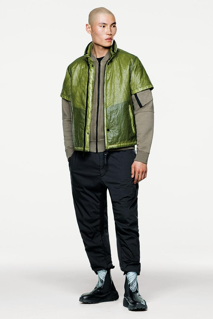 Stone Island Shadow Project Fall Winter 2019 FW19 Collection Lookbook Imagery DPM Chine New Fabrics Technical Convertible Down Jacket Footwear Trousers Outerwear Techwear Garment Dyed Two Layer Fabric