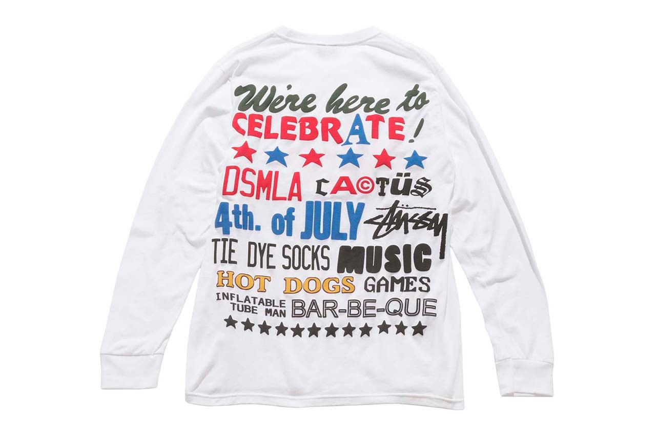Stüssy x Cactus Plant Flea Market for DSM LA dover street market los angeles july 4 collaboration collection cpfm shorts jeans tee shorts release date info buy