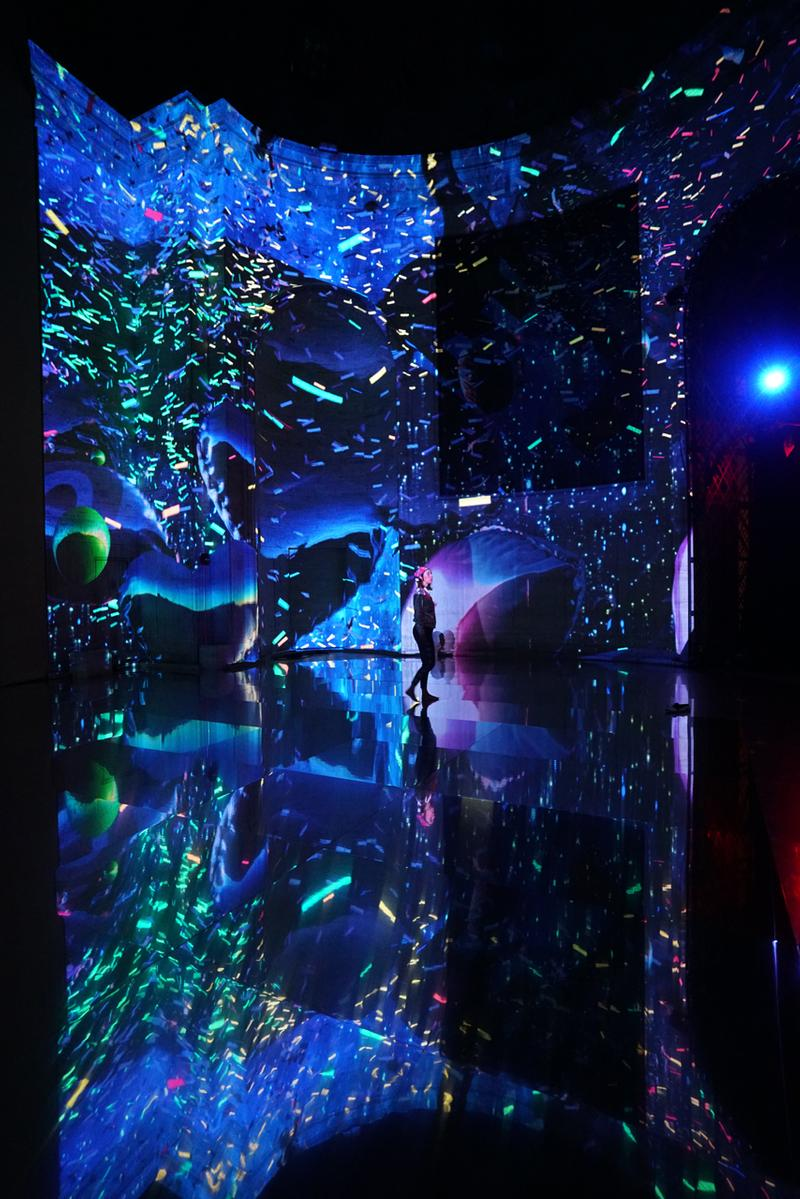 SuperReal Moment Factory Cipriani Immersive Interactive Installation 25 Broadway Multimedia Abstract Visuals Technology