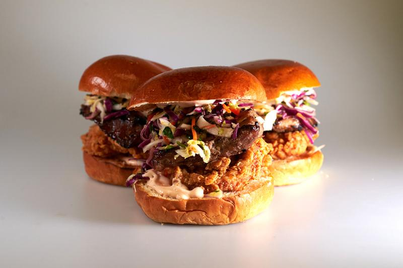 sweet chick num pang kitchen num chick sammy fried chicken pork belly asian slaw chili mayo sandwich collaboration release locations