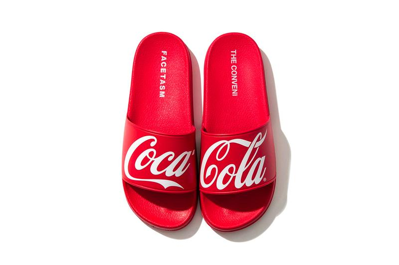 THE CONVENI FACETASM Coca Cola Capsule Fragment Design Hiroshi Fujiwara Bottle Convenience store goods novelties accessories bottles bags hoodies umbrellas t shirts slides