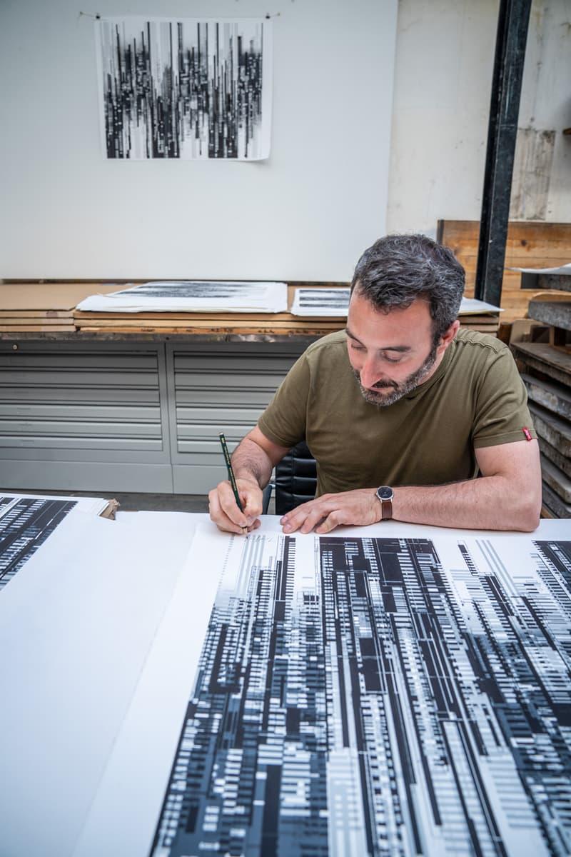 Thomas Canto Urban Symphony Lithograph Print Them All Urban Landscape Geometric Black