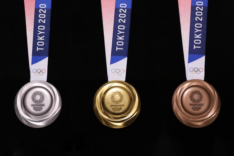 Tokyo 2020 Olympics Unveils Medals Designed From Old Gadgets recycle sustainability sports