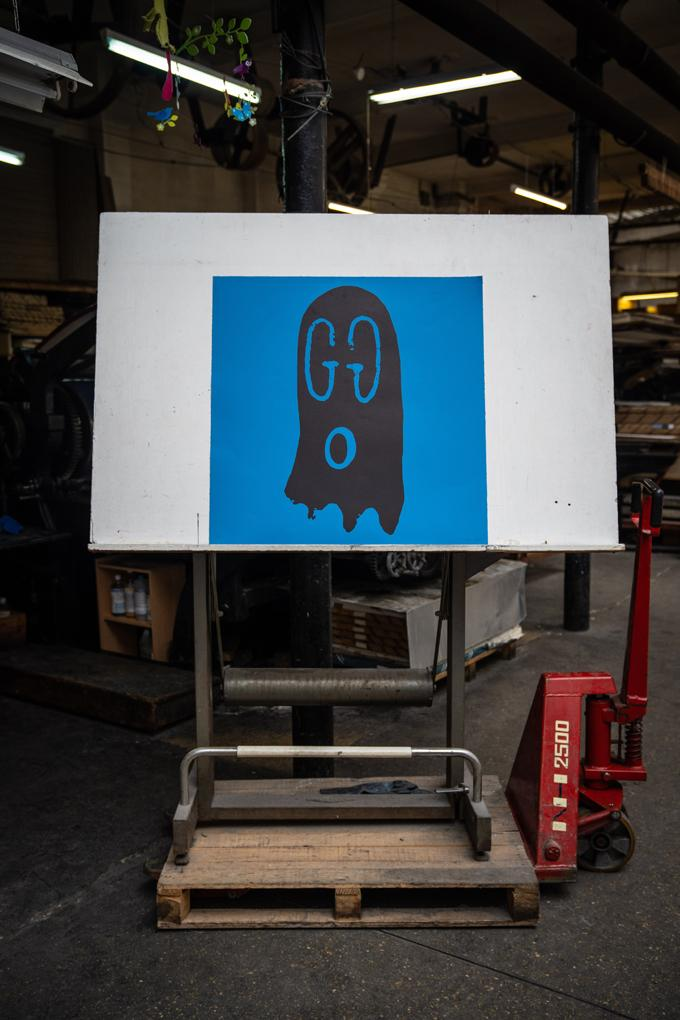 """Trevor Andrew """"Original Gucci Ghost"""" Lithographs Pink Blue Red Yellow Ghosts Canadian Artist 'Punch' 2nd Edition Jeffrey Deitch Los Angeles"""