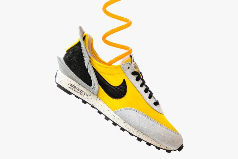 "UNDERCOVER x Nike Daybreak ""Yellow"" Closer Look collaborations sneakers yellow bright citron black blue white release jun takahashi"