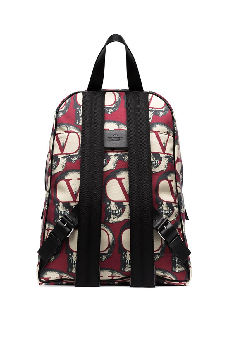 Valentino x UNDERCOVER Fall Winter 2019 FW19 Pieces Multicolored Fold Up Cap Skull Slides Red White Black Print Backpack Collaboration Runway