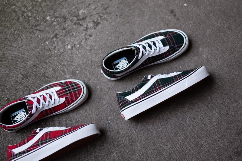 Vans Bold Ni Tartan Red Green Sneaker Release Information Cop Online Coutie Traditional British Print Old Skool Contemporary Remake Skateboarding