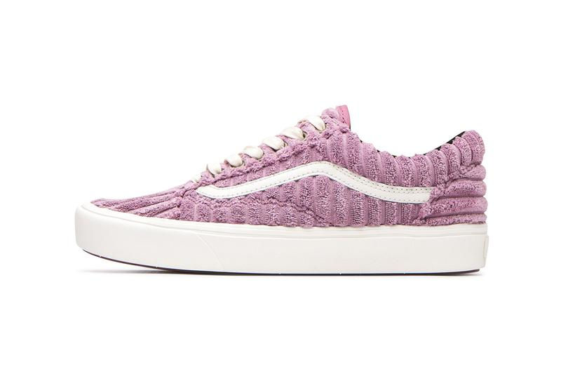 Vans UA ComfyCush Jumbo Cord Corduroy Pink Blue Authentic Old Skool Sneaker Release Information Drop Date Cop Waffle Sole Unit Vulcanized Skate Shoe
