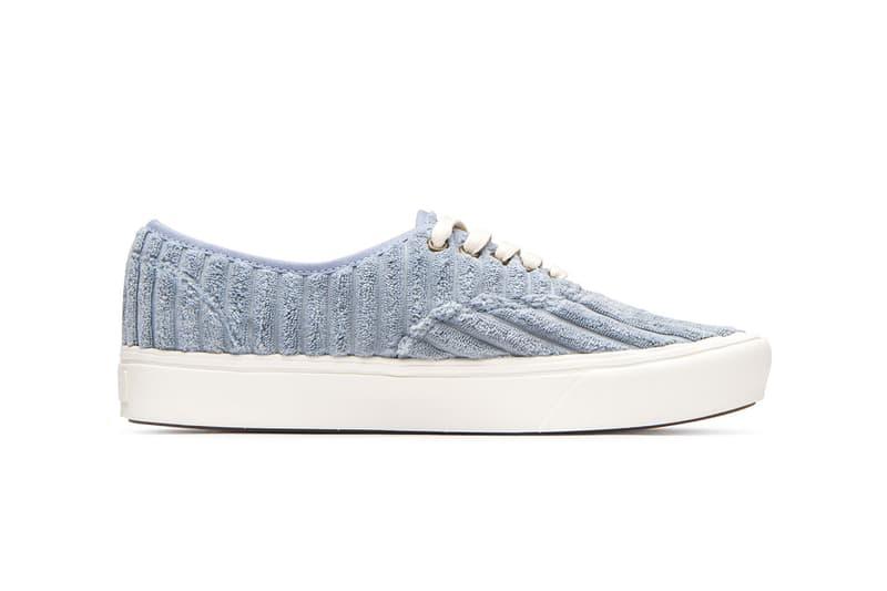 Vans UA ComfyCush Jumbo Cord Corduroy Pink Blue Authentic Old Skool Sneaker Release Information Drop Date Cop Waffle Sole Unit Vulcanized Skate Shoe