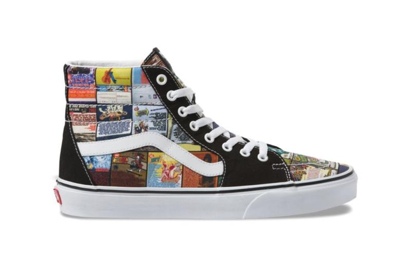 Vans Sk8-Hi Warped Tour 25 Years Anniversary Limited Edition Pair All Over Print Graphic Design Color Festival Music Rock Vulcanized Jazz Stripe Sneaker Release Information Cop Drop