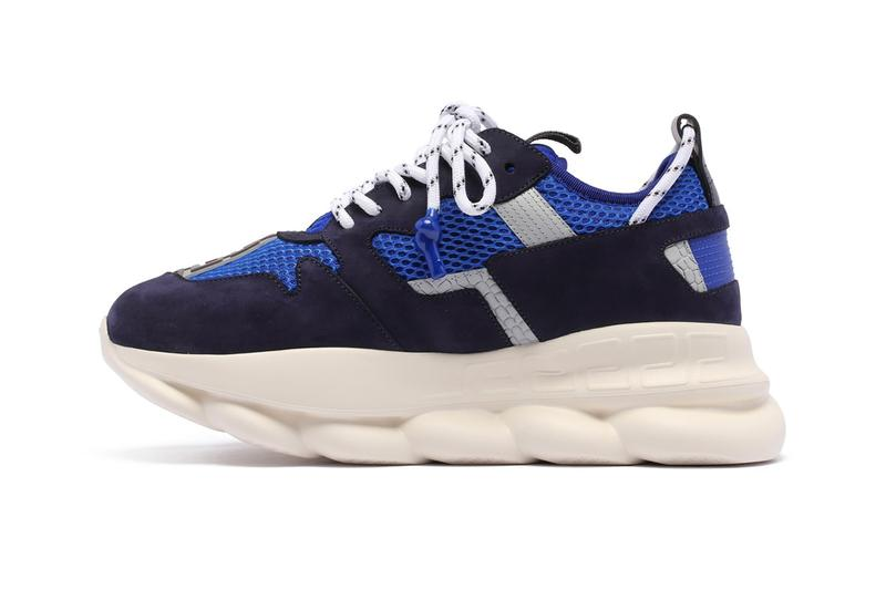 Versace Chain Reaction 2 Sneakers Blue Release Info  antonia italy boutique fw 19 fall/winter DSU7462-DTP1GDNWR  made in italy release drop date price