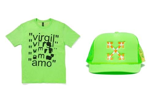 "MCA Chicago Drops Neon-Colored Virgil Abloh ""Figures of Speech"" T-Shirt & Hats"