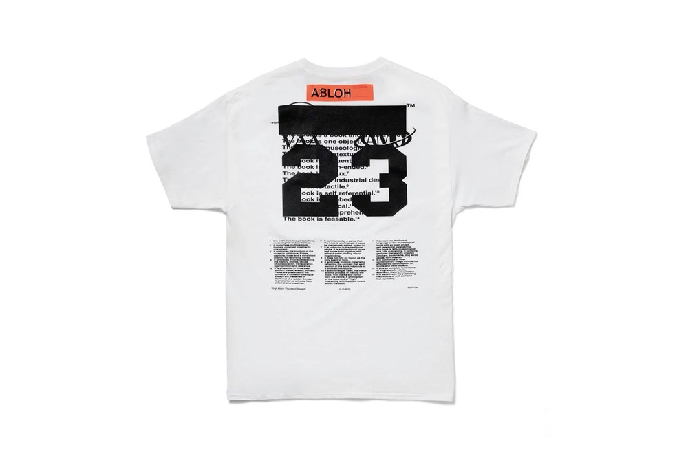 """MCA c/o Virgil Abloh """"Figures of Speech"""" Exhbition Museum Of Contemporary Art Chicago T-Shirts Postcards Poster Book Pyrex Vision Collections Limited Edition Art Clothing Louis Vuitton Mens Creative Director"""