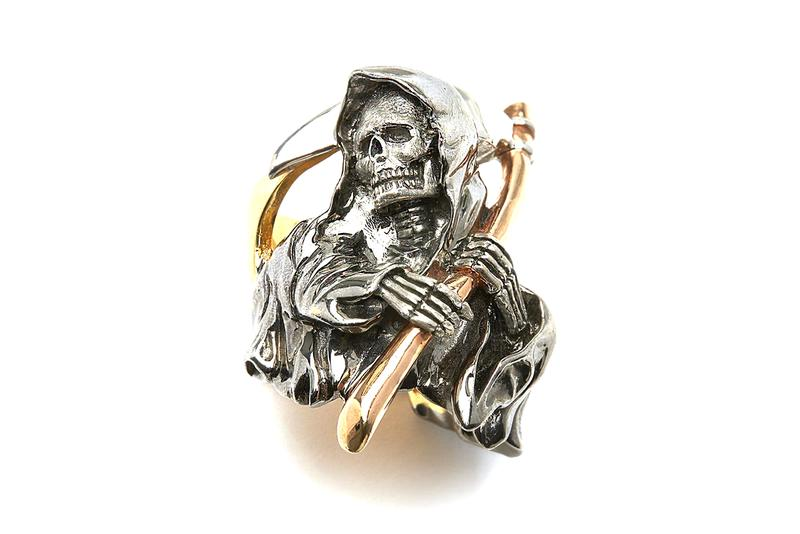Wes Lang x The Great Frog Native American Chief 18K Yellow Gold Reaper Ring 925 Sterling Silver 18K Mixed Gold Fine Jewelry London Dover Street Market E-Shop