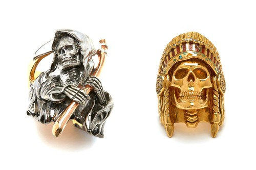 Wes Lang Reworks The Great Frog's Reaper & Native American Chief Rings in 18K Gold
