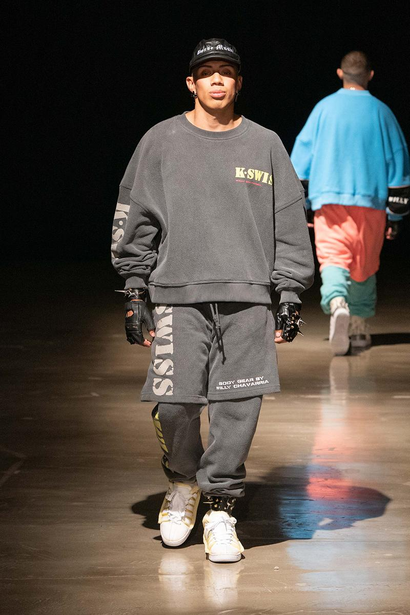 willy chavarria k swiss k-swiss sneakers runway spring summer 2020 show catwalk mens fashion designer