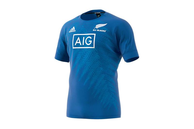 Y-3 and adidas Rugby for New Zealand All Blacks rugby world cup team jersey performance colorway black blue white maori