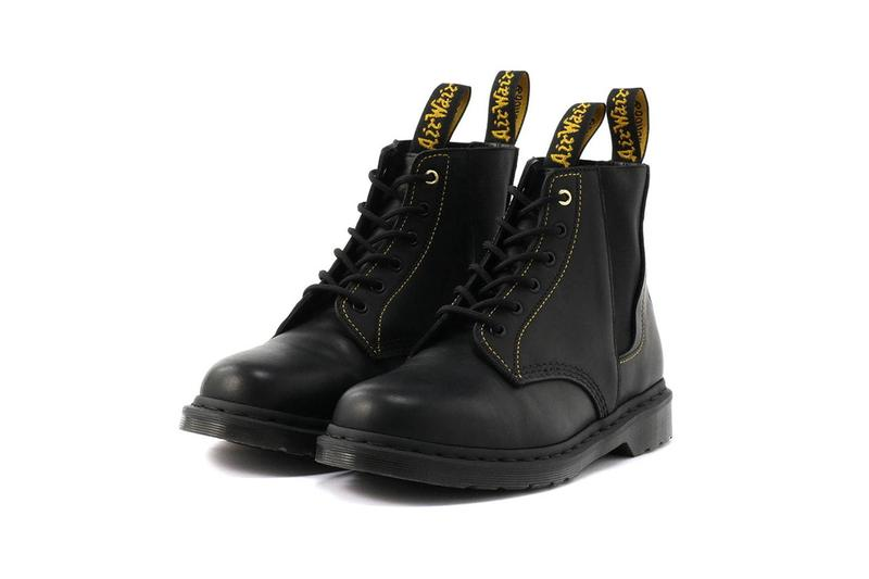 "Yohji Yamamoto Dr Martens ""101 YY GUSSET"" Collaboration boot six hole eye fall winter 2019 collection release date info price july 10 gore side"