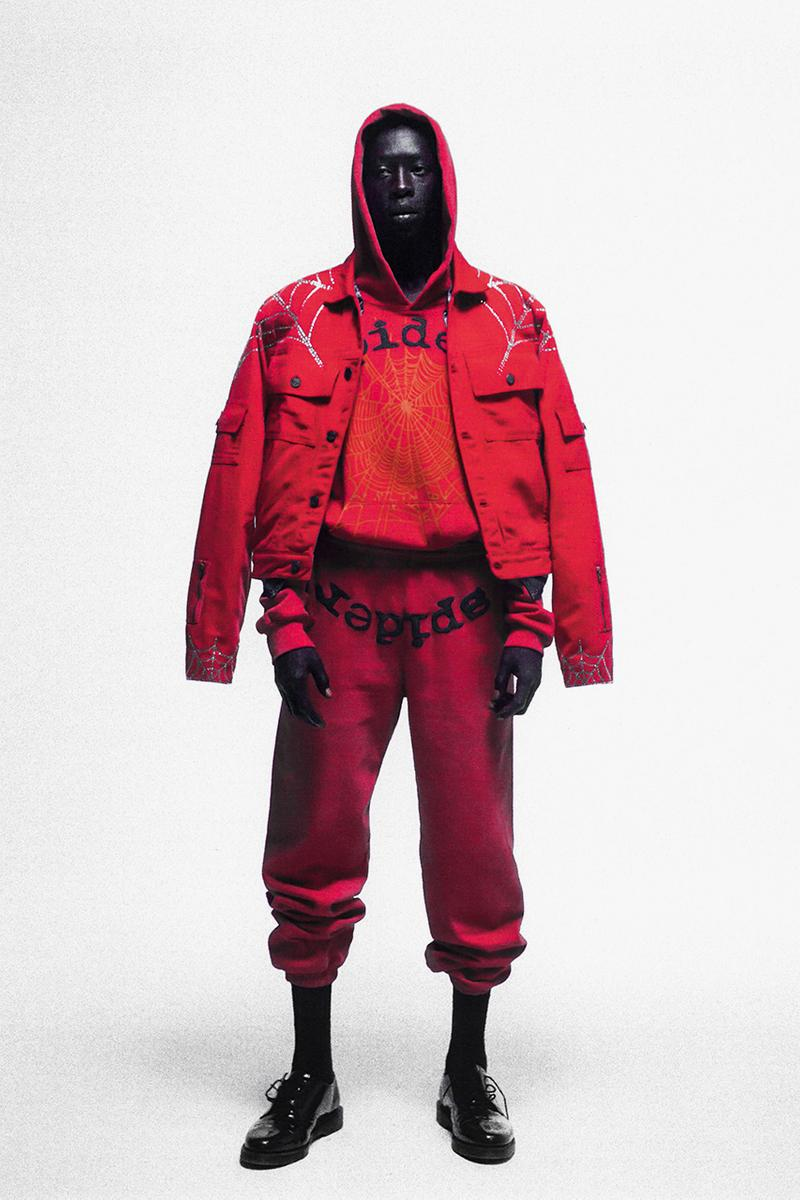 "Spider Young Thug London Pop-Up Shop Wireless Weekend Shoreditch David Adjaye ""Dirty House"" Architect 11 Piece Collection Drop Information Denim Jacket Shorts T-Shirt Sweater"