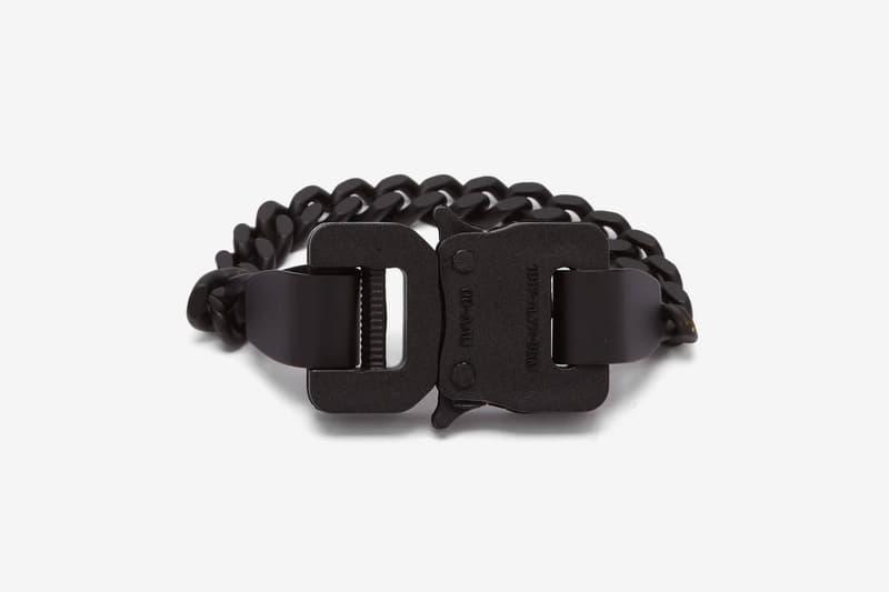 1017 ALYX 9SM Buckle Chainlink Bracelet Closer Look Release info Date Buy Purchase Black Matthew M Williams