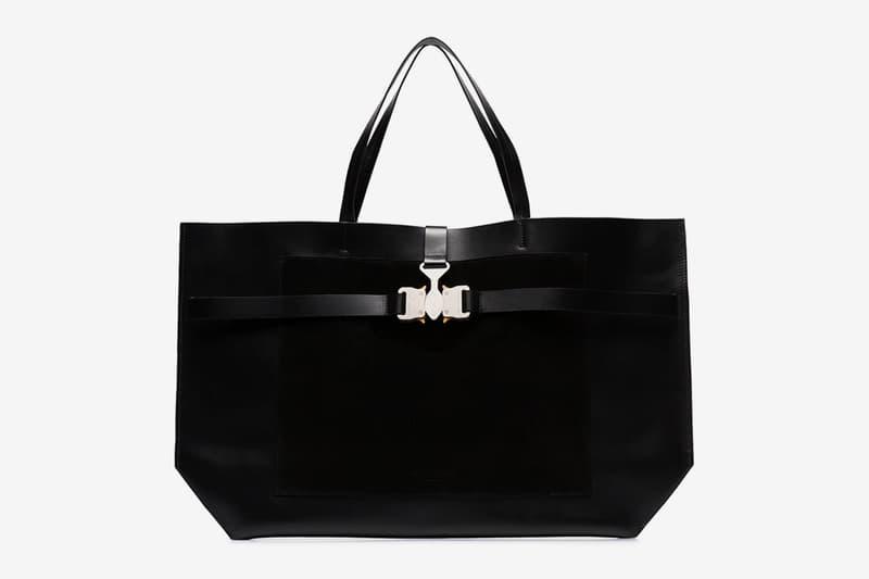 1017 ALYX 9SM Tri-Buckle Tote Bag Release Black Matthew Williams Info Buy Price