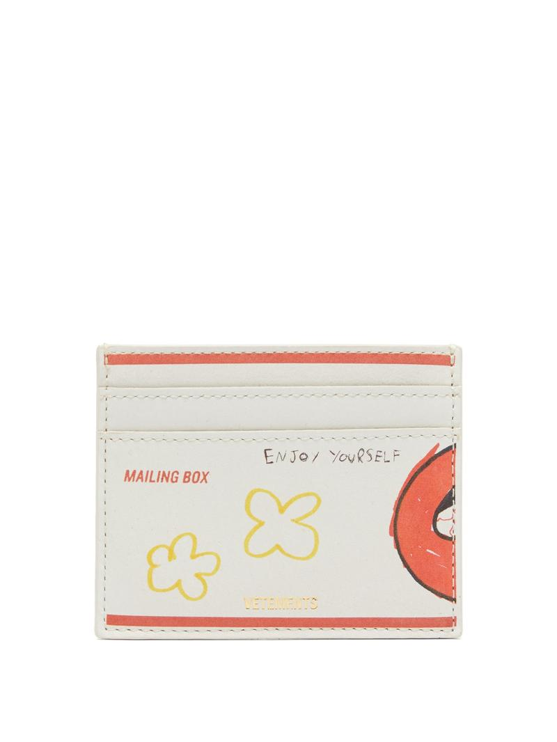 Vetement Printed Graphics Leather Cardholder release where to buy price 2019