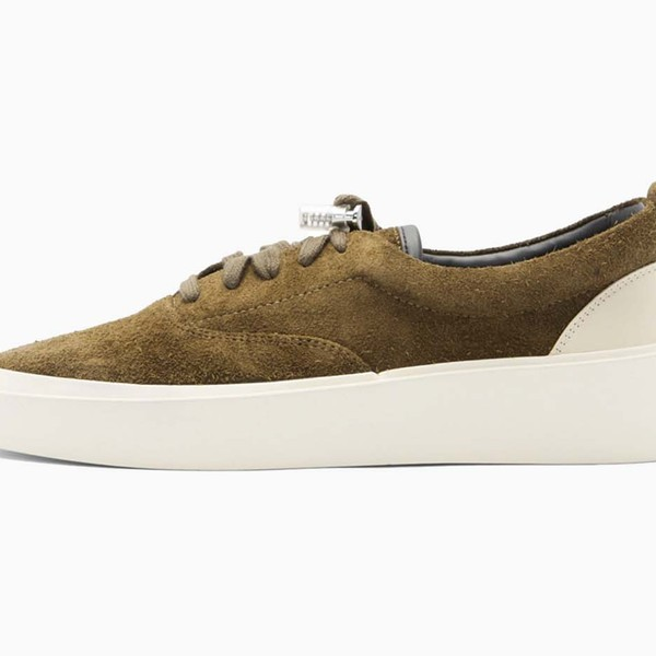 Fear of God SSENSE Exclusive Khaki Suede 101 Lace-Up Sneaker