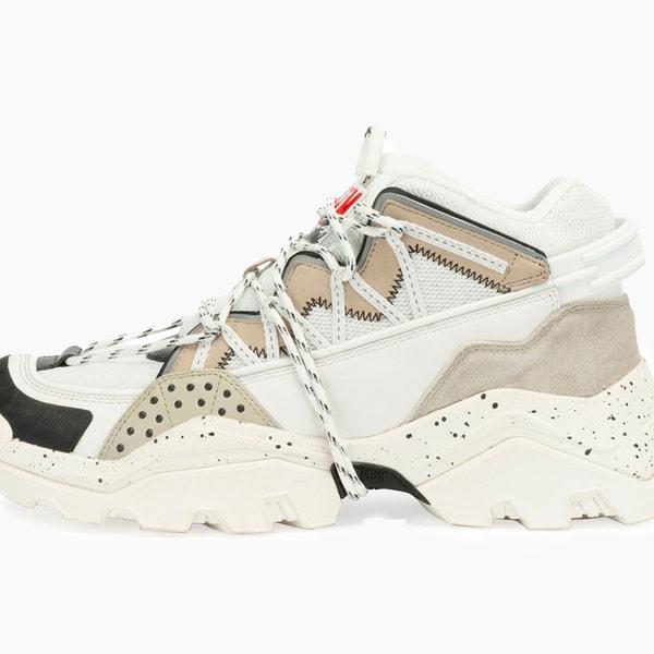 KENZO Inka Chunky Speckled Wraparound-Lace Sneakers