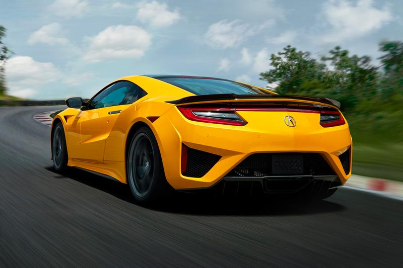 """Acura NSX Honda """"Indy Yellow"""" 2020 Colorway Heritage """"Spa"""" """"Rio"""" 1990s Supercar Japanese American Automotive Manufacturer 2019 Monterey Car Week 1997-2003 First Gen"""