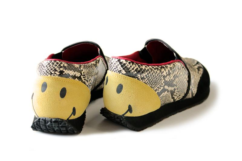 KAPITAL Smiley Snakeskin Slip On Japan Patchwork