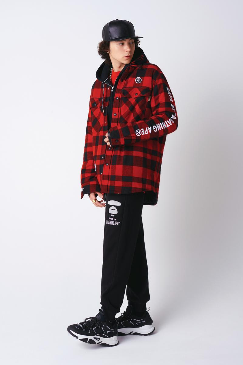 AAPE by A Bathing Ape Fall 2019 Collection lookbooks bape ape head black aape aape future aape land 90s colorblocking jackets plaid
